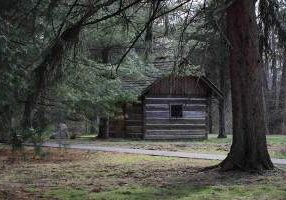 On Saturday morning those on the retreat journeyed outside to the lob cabin chapel, where Saint Mother Theodore Guerin first arrived when coming to Saint Mary-of-the-Woods.